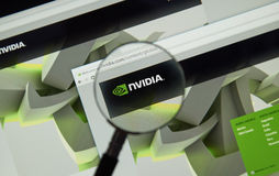 Nvidia internet page Stock Images