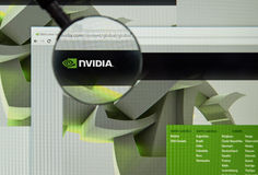 Nvidia internet page Royalty Free Stock Images