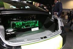 NVIDIA Jedzie instalacji w bagażniku przy CES 2019 zdjęcia stock