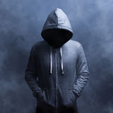 Nvisible man in the hood Stock Images