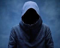 Nvisible-Mann in der Haube Stockbilder