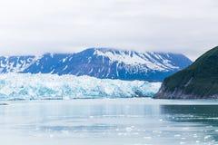 Névoa sobre a geleira de Hubbard Foto de Stock