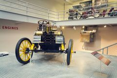 The NW 12 HP racing car from 1900 stands in National technical museum Royalty Free Stock Image
