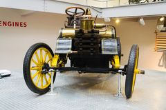 The NW 12 HP racing car from 1900 stands in National technical museum Stock Images