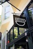 NW 23rd Barista sklep z kawą Portland Oregon Fotografia Royalty Free