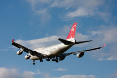 NWA Boeing 747 à l'AÉROPORT de NARITA Image stock