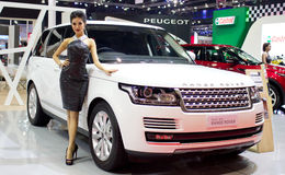 Nwe Range Rover Car With Unidentified Model. Royalty Free Stock Photography