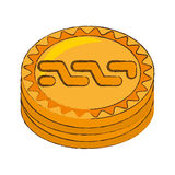 Nxt coin cryptocurrency stack icon Royalty Free Stock Photos