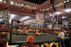 NXT Mocują się byka Dempsey szpilek przeciwnika Jason Jordan w pierścionku z Zdjęcie Royalty Free