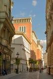 Nyà ¡ ry Pà ¡ l ulica w Budapest Obraz Royalty Free
