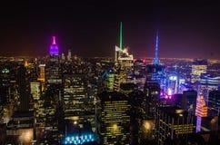 NY在晚上 免版税图库摄影