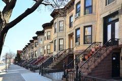 ny布鲁克林的褐砂石 免版税库存图片