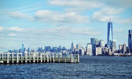 NY日落 免版税图库摄影
