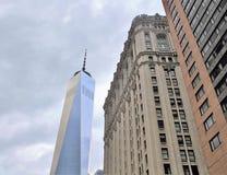 NY的,美国2017年6月19日纽约-世界贸易中心一号大楼大厦 免版税库存照片