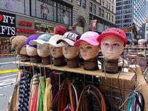 NY纪念品,纽约帽子,棒球帽,纽约, NYC,美国 库存图片
