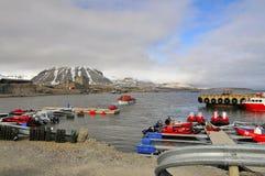 Ny-Ãlesund, Spitsbergen Fotografía de archivo libre de regalías