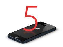 Ny äppleiphone 5 Stock Illustrationer