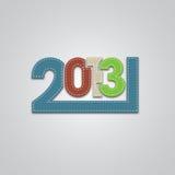 Ny 2013 år design Royaltyfri Bild