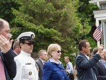候选人希拉里・克林顿和NY州长安德鲁・库默 免版税库存图片