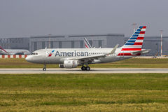 Ny American Airlines flygbuss A319 Royaltyfria Foton