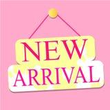 Ny ankomstrosa färgetikett Royaltyfria Foton
