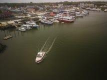 Ny antenn av Cape May - ärmlös tröja royaltyfria foton