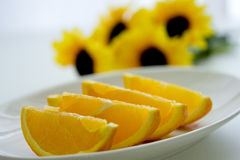 Ny apelsin Royaltyfria Foton