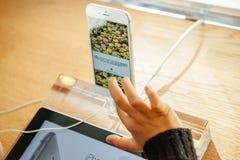 Ny Apple iPhone 6 och iPhone 6 plus Arkivbilder