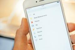Ny Apple iPhone 6 och iPhone 6 plus Arkivbild