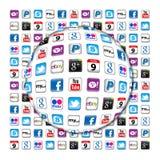 Ny Apps kommunikationsbubbla Arkivbilder
