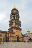 Ny Athos kloster, återställande av klockatornet Fotografering för Bildbyråer