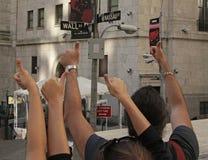 NY-börs, väggSt, NYC Arkivfoton