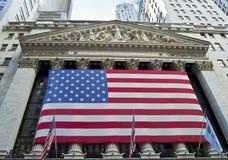 NY Börse-Ansicht Stockbild