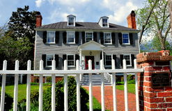Ny Bern, NC: Palmer-Tisdale hus 1767 Arkivfoton
