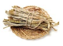 Ny bild av torkad bambuskott på Longji terrasser, Guilin, Kina Dessa bambuskott avbildar av driedn matlagningen av sakkunnig C royaltyfria foton