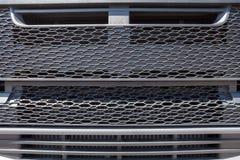 Ny bilelementvärmeapparat på vit bakgrund Bilreservdelar textur av det nya motorvattnet som kyler element royaltyfria bilder