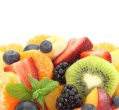 Ny blandad fruktsallad royaltyfri fotografi