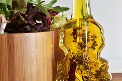 Ny blandning för grön sallad Arkivfoto