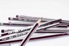 Ny blyertspennauppsättning Arkivfoton