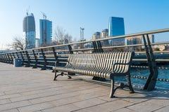 Ny boulevard i Baku Royaltyfri Foto