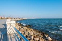 Ny boulevard i Baku Ag Sheher Royaltyfri Foto
