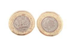 Ny britt ett pundmynt Arkivbilder