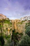 Ny bro eller Puente Nuevo i Ronda, Spanien Fotografering för Bildbyråer