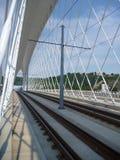 Ny bro i den prague trojaen i Tjeckien Arkivfoto