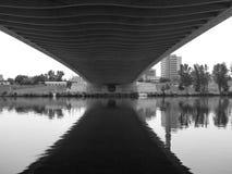 Ny bro i den prague trojaen i Tjeckien Fotografering för Bildbyråer