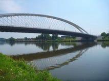 Ny bro i den prague trojaen i Tjeckien Arkivbilder