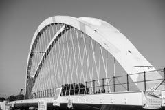 Ny bro mellan Frankrike och Tyskland Arkivfoto