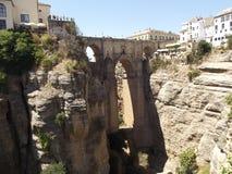 Ny bro på Ronda, Malaga, Andalucia royaltyfri fotografi