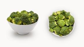 Ny broccoli i en bunke Royaltyfri Bild