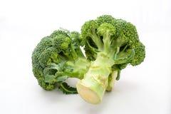 Ny broccoli på en vit bakgrund Arkivfoto